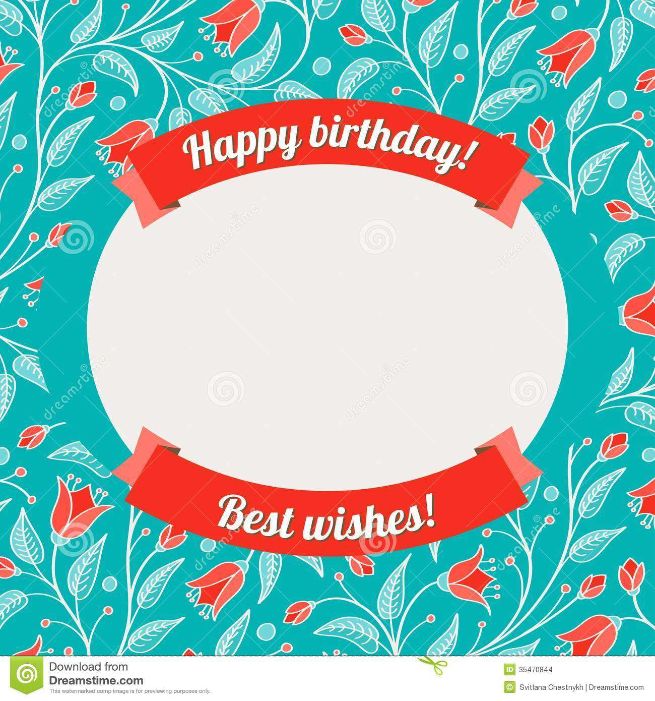 25 The Best Birthday Card Template With Photo Layouts with Birthday Card Template With Photo