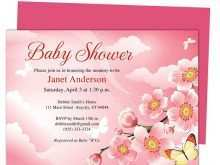 Invitation Card Template Butterfly