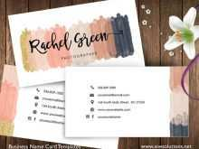 Name Card Template Nails