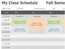 25 Visiting Class Schedule Template College Formating with Class Schedule Template College