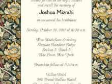 Invitation Cards Templates Unveiling Tombstone