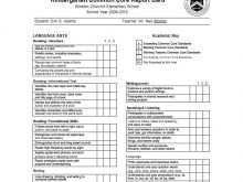 A Report Card Template