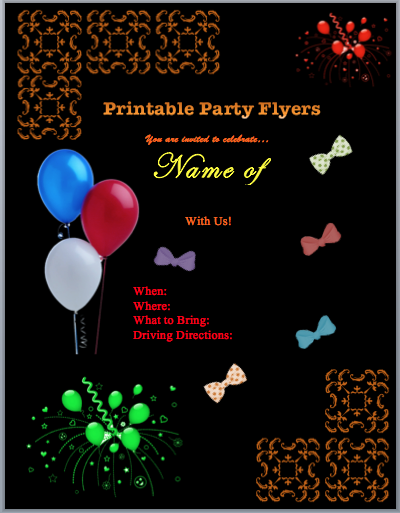 26 Blank Free Birthday Flyer Template Word For Free for Free Birthday Flyer Template Word