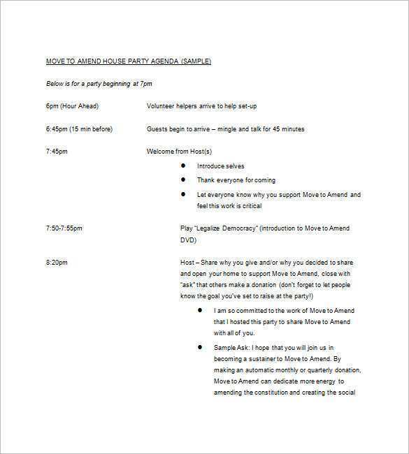 26 Create Agenda Template For A Party PSD File for Agenda Template For A Party