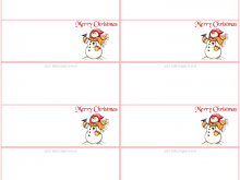 26 Create Holiday Name Card Templates for Ms Word for Holiday Name Card Templates