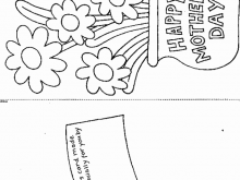 Mothers Day Card Template Flower