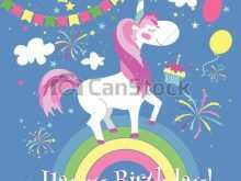 26 Customize Our Free Birthday Card Template Unicorn PSD File with Birthday Card Template Unicorn