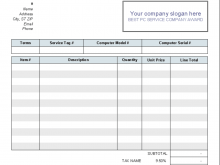26 Customize Our Free Computer Repair Invoice Template Excel Now with Computer Repair Invoice Template Excel