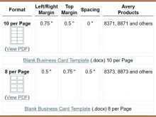 Business Card Template Docx