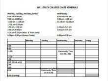 26 Format Class Schedule Template College Now with Class Schedule Template College
