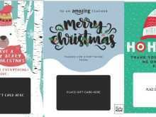 Gift Card Holder Template Christmas