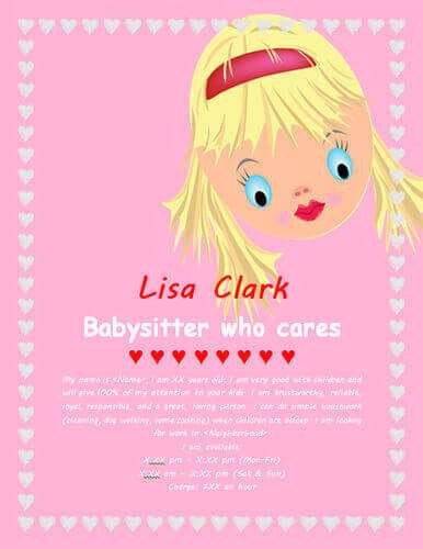 26 Free Babysitting Flyers Template in Photoshop for Babysitting Flyers Template