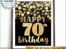 26 Free Printable 70Th Birthday Card Template Free in Photoshop for 70Th Birthday Card Template Free