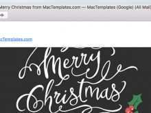 Christmas Card Template Mac