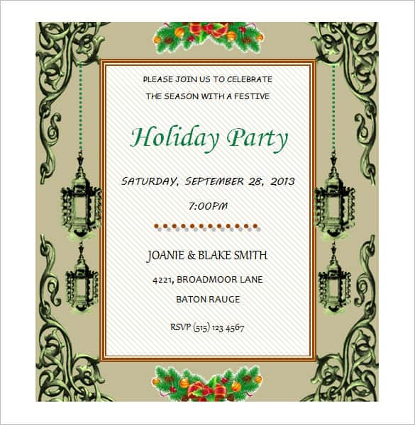 26 Printable Invitation Card Templates For Word Maker with Invitation Card Templates For Word