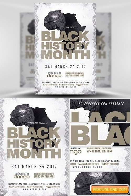 26 Standard Black History Month Flyer Template Free in Word for Black History Month Flyer Template Free