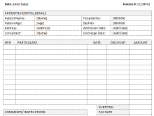 26 Standard Blank Medical Invoice Template by Blank Medical Invoice Template