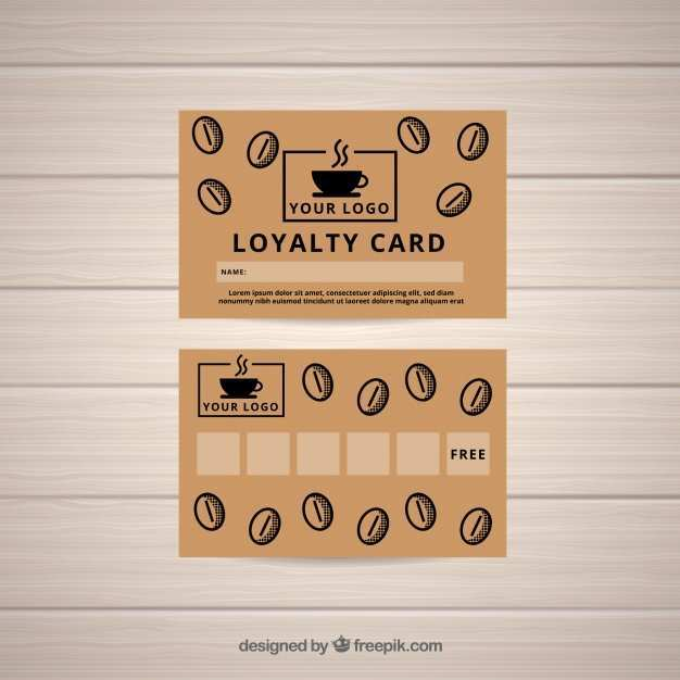 26 Standard Coffee Loyalty Card Template Free Download PSD File with Coffee Loyalty Card Template Free Download