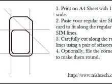 Cutting A Sim Card Template