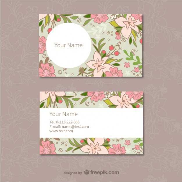 26 The Best Flower Business Card Template Free Layouts by Flower Business Card Template Free