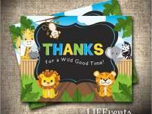 26 Visiting Animal Thank You Card Template in Photoshop for Animal Thank You Card Template