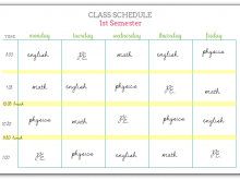 26 Visiting Class Schedule Template Printable Formating for Class Schedule Template Printable