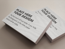 27 Blank Business Card Mockup Templates Photo for Business Card Mockup Templates
