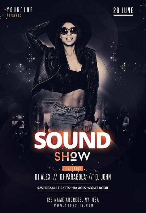 27 Blank Club Flyer Templates Free Download Now with Club Flyer Templates Free Download