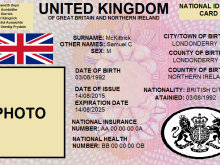 National Id Card Template