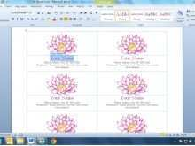 Business Card Templates Microsoft Word