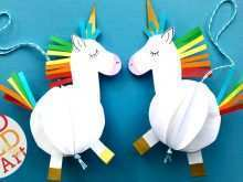 27 Creating Unicorn Pop Up Card Template Free PSD File for Unicorn Pop Up Card Template Free