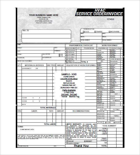 27 Format Ac Repair Invoice Template Layouts by Ac Repair Invoice Template