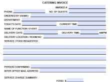 27 Free Printable Blank Catering Invoice Template Maker for Blank Catering Invoice Template