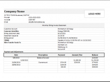 27 Free Printable Invoice Statement Template Now for Invoice Statement Template