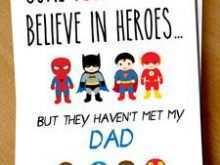 Superhero Christmas Card Template
