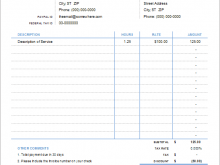 Hourly Contractor Invoice Template