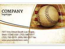 27 Online Baseball Name Card Template for Ms Word for Baseball Name Card Template