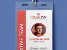 Id Card Design Template Ppt