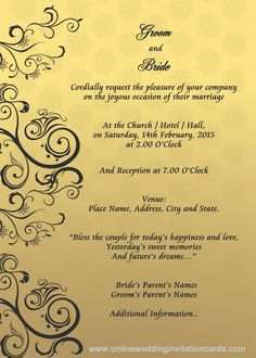 27 Online Wedding Card Templates In English Photo By Wedding Card Templates In English Cards Design Templates