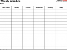 27 Printable 7 Period Class Schedule Template in Word by 7 Period Class Schedule Template