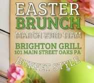 27 Printable Brunch Flyer Template PSD File with Brunch Flyer Template