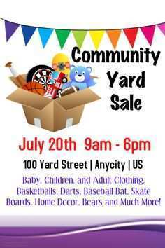 27 Printable Community Garage Sale Flyer Template For Free by Community Garage Sale Flyer Template