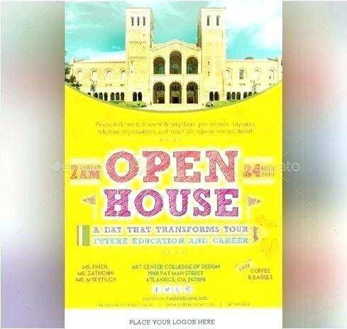 27 Printable School Open House Flyer Template Layouts for School Open House Flyer Template