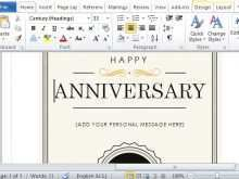 27 Printable Word Templates Anniversary Card by Word Templates Anniversary Card