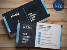 27 Standard Adobe Photoshop Name Card Template PSD File with Adobe Photoshop Name Card Template