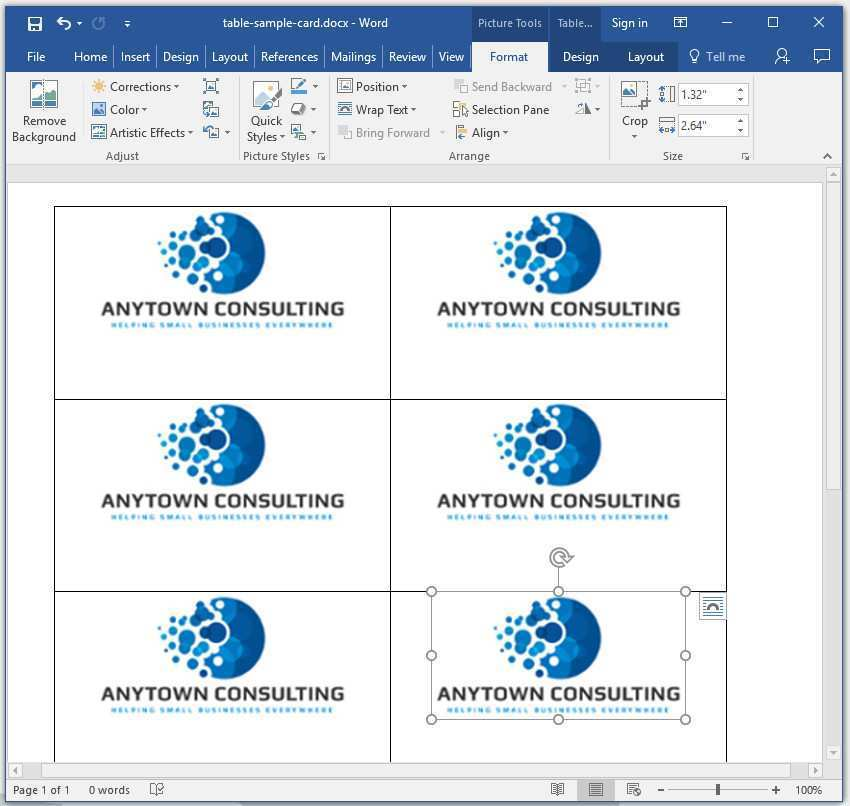 27 Standard Card Layout On Word Now with Card Layout On Word