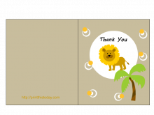Free Thank You Card Templates Baby Shower