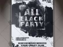 27 The Best All Black Everything Party Flyer Template For Free by All Black Everything Party Flyer Template