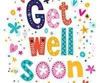 Get Well Card Template Printable