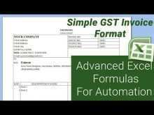 Invoice Format Excel Gst